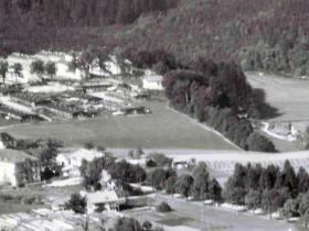 Luftbildaufnahme Haidforst 1956